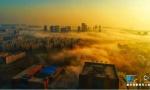 郑州出现平流雾奇景 高层建筑仿佛融入云端