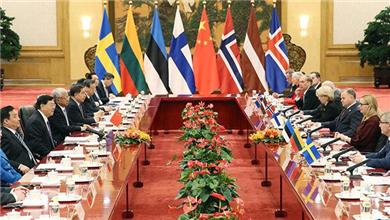 张德江与北欧和波罗的海国家议长举行集体会谈