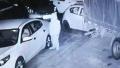 哈尔滨一小区一晚40多辆车轮胎被扎 监控录下作案者