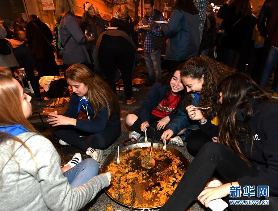 海鲜饭飘香巴伦西亚狂欢夜