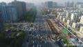 郑州中州大道早高峰车流如织 南向北方向通行压力大
