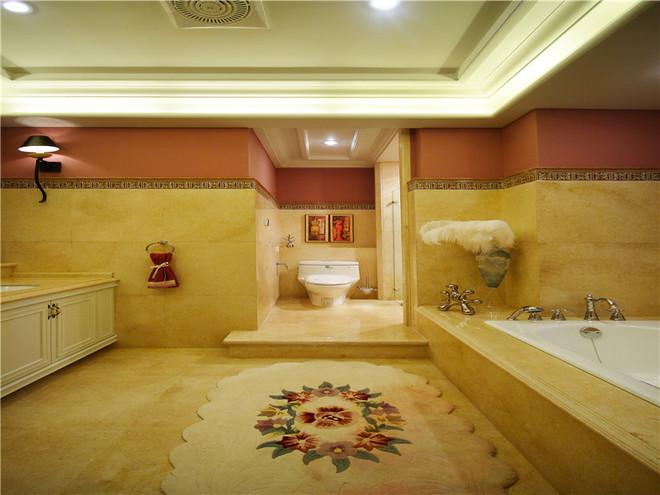 新古典别墅卫浴间装修效果图大全2015图片