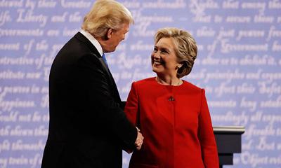 美候选人首次辩论现场