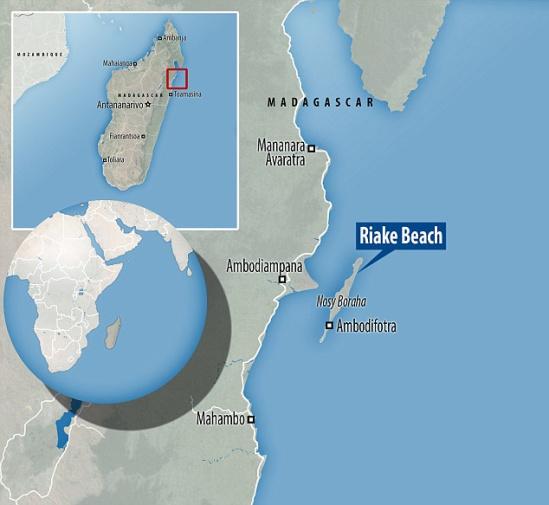 图为发现疑似马航mh370残骸的海岸