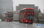 城市冬季里的一场大雪