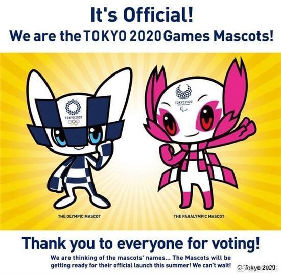 双语:东京奥运会吉祥物由小学生投票选出