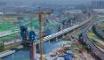 郑万高铁跨郑西高铁转体斜拉桥紧张施工