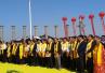 河南泌陽第16屆盤古文化節開幕 再現千年古廟會