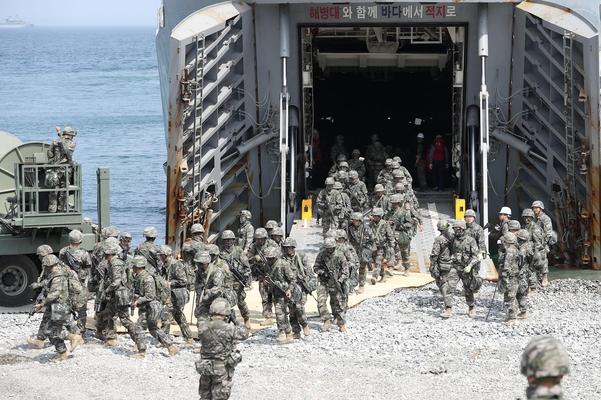 js33555.com金沙:史无前例!美韩军演就这么低调的结束了 美国没派航母