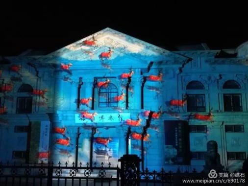 旅顺博物馆3D投影秀 现代科技邂逅古典文明