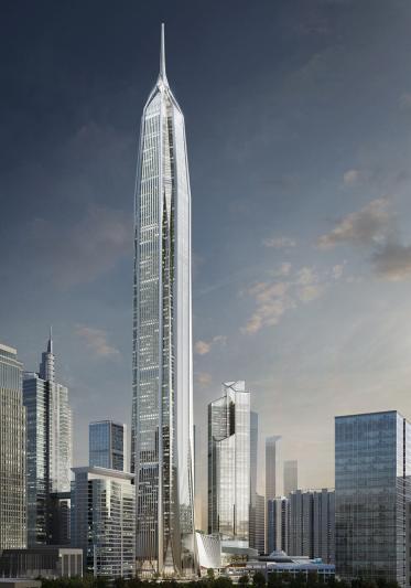 建成后将成为世界第四大高楼