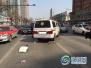 沈阳昨日一运钞车撞上行人 两人受伤严重已经送医救治