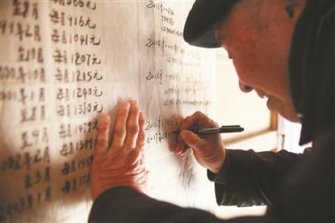 铜山区89岁老人支大义工资账:不仅年年涨,内容也越来越丰富