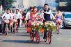 沈阳小伙骑共享单车娶新娘 整个车队花费不到50元