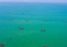 航拍深水养殖基地