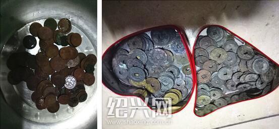 这里挖出大量古钱币