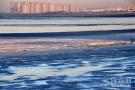 太冷,海水都结冰了