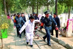 120为扫墓期间的突发状况随时备战。
