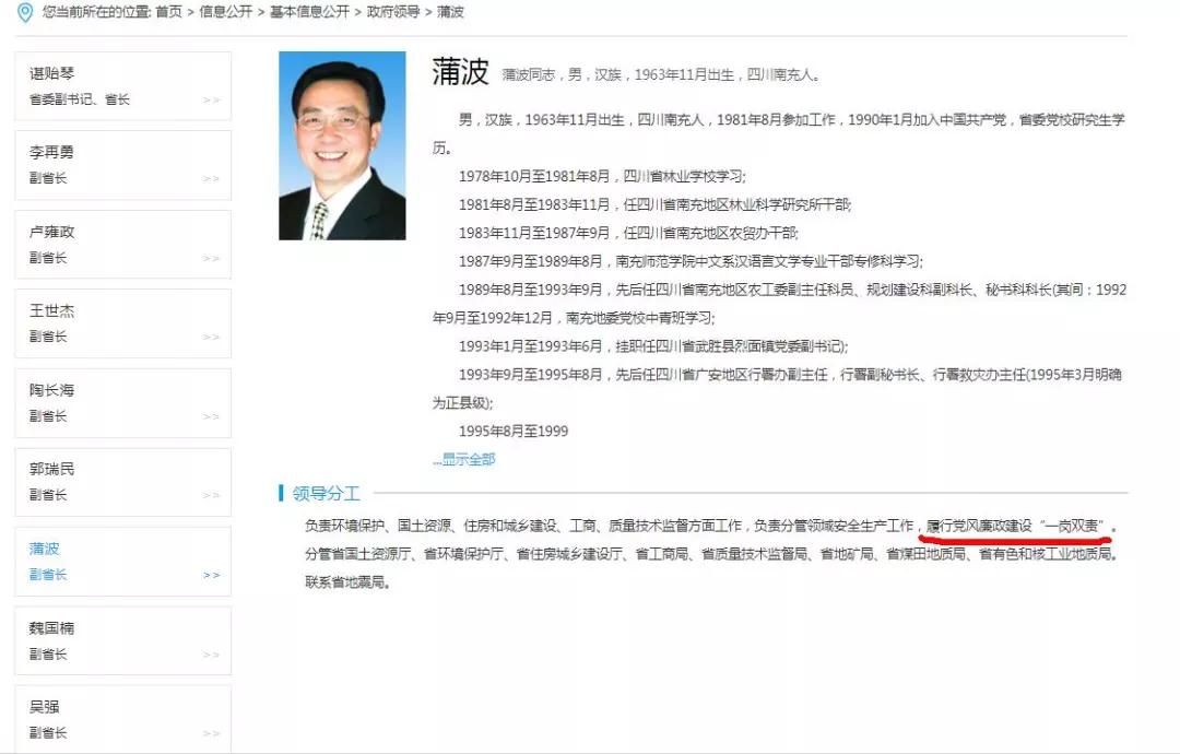 这官员落马2小时后简历被撤 曾在邓小平故里工作过