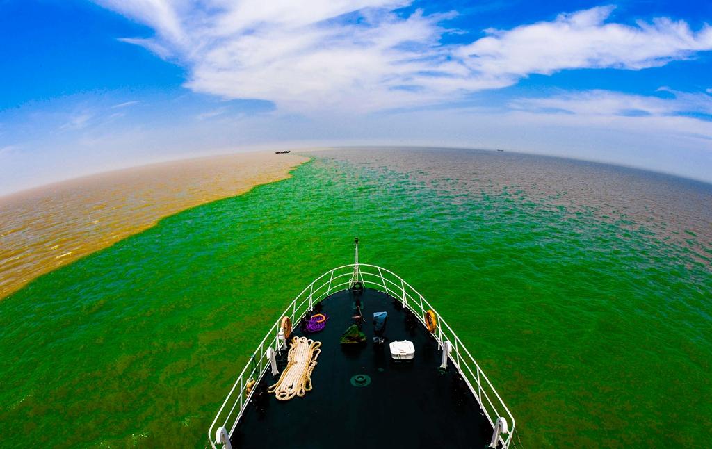 东营:鸟瞰黄河入海的地方
