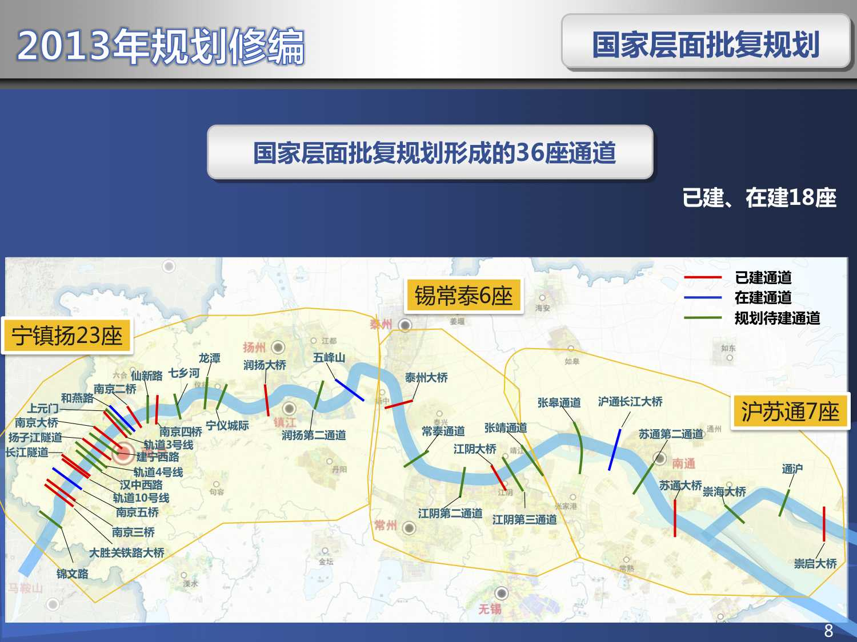 目前,已纳入国家规划的36座过江通道