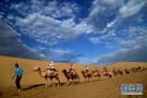 鸣沙山月牙泉景区云景如画 尽情欣赏大漠风光
