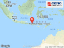 中国地震台网测定印尼龙目岛19日发生6.3级地震