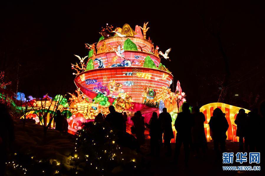 (文化)(9)河南陕州地坑院新年灯会开幕