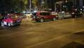 沈阳凌晨保工街上一宝马车失控 5车连撞2人伤