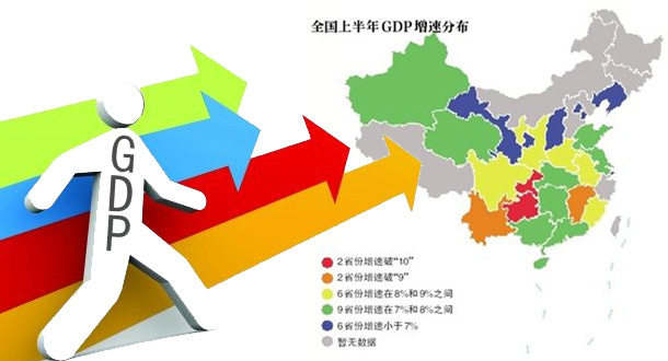"""上半年GDP""""成績單""""25個省份出爐 這些省超萬億"""