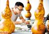 河南孟津农民安浩生:小葫芦上绘画卷