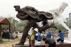 中国捐赠安重根铜像落座韩国广场 系朝鲜抗日义士