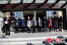 山东省政协委员艺术团泰安下基层 挥毫泼墨迎新春