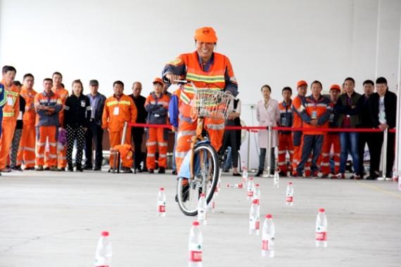 高手过招!宁波环卫工人举行技能大比武迎接自己的节日