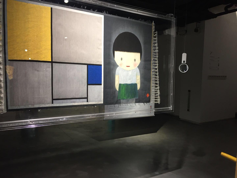 刘野缂丝作品《2010-4女孩和蒙德里安》