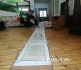 哈尔滨退休医生手绘九米长卷 记录父母一生