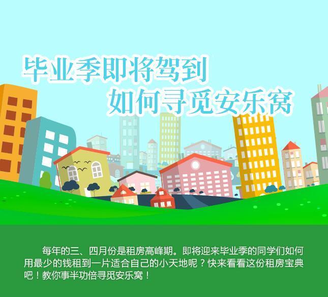 pk10北京开奖直播视频:毕业季租房找工作 一图教你如何寻觅安乐窝!