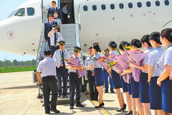河南信阳明港机场试飞成功