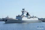 中国海军第二十九批护航编队滨州舰在德国举行舰艇开放日