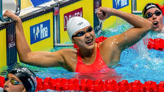 王简嘉禾再夺200米自由泳金牌