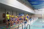 """河南漯河:小学生游泳培训开课 百名学员率先""""试水"""""""