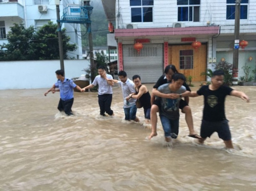 浙江遂昌6小时雨量达75年一遇标准 全力排除险情