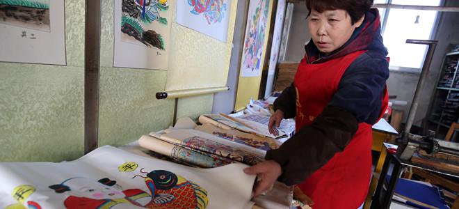 潍坊:杨家埠木版年画腊月印制忙