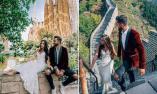 他们穿结婚礼服游历33国